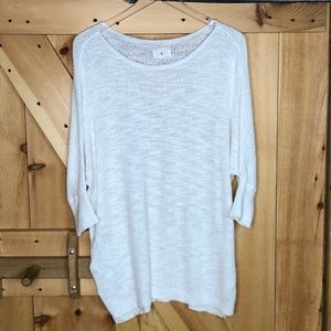 lou & grey | white knit tunic sweater